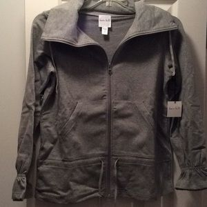 Kate hill sweater jacket, gray, medium